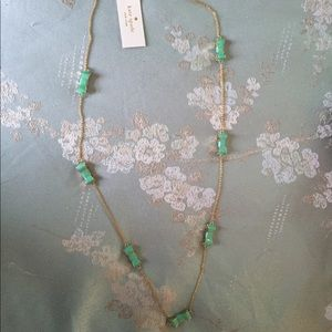 "NWT Kate Spade ""take a bow"" long necklace."